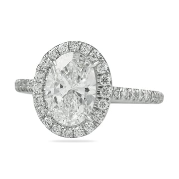 1.5 carat oval diamond in halo ring