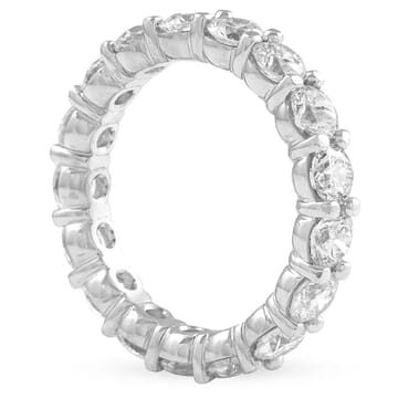 3.25 carat Round Diamond Closed Basket Eternity Band front view white gold
