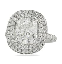 cushion cut 3 carats double halo