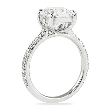 2 carat cushion cut engagement ring