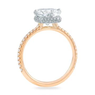 2.60ct Cushion Diamond Hidden Halo™ Ring