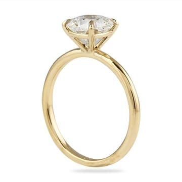 CUSHION CUT DIAMOND IN YELLOW GOLD SOLITAIRE