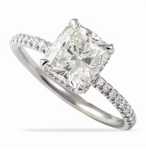CUSHION CUT MICROPAVE ENGAGEMENT RING