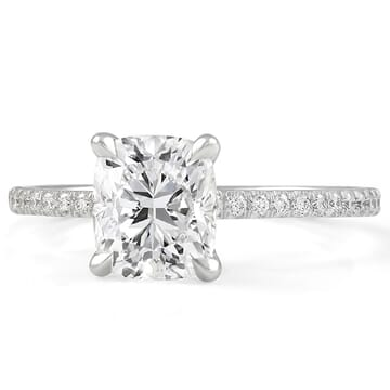 1.40 ct Cushion Cut Diamond Super Slim Engagement Ring