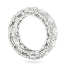 CUSHION DIAMOND HALO ETERNITY BAND