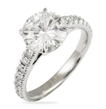Round Moissanite Cathedral Engagement Ring