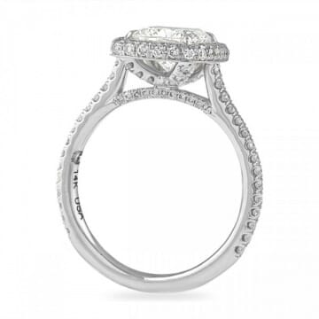 1.5 carat cushion cut diamond halo ring