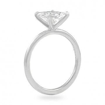 1.80ct Radiant Cut Diamond Super Slim Band Ring