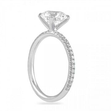 round diamond 1.7 carat ring