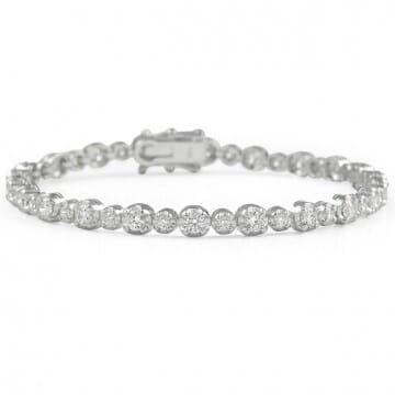 2.90 carat Alternating Size Diamond Tennis Bracelet