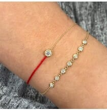 Red String Bezel Bracelet