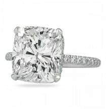 5.21 Carat Cushion Cut Diamond Signature Wrap Engagement Ring