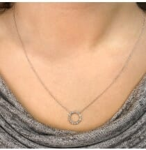 Compass Diamond Necklace white gold