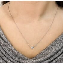 Floating Solitaire Pendant white gold