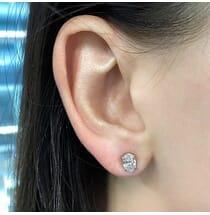 Oval Diamond Studs GIA