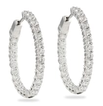 3.50 CT INSIDE-OUT DIAMOND HOOPS