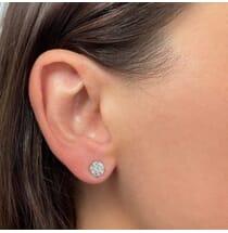 2.02 Carat TW Diamond Stud Earrings