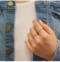 Five-Stone Bezel Set Ring