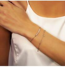 Round Diamond Dangling Bezel Bracelet