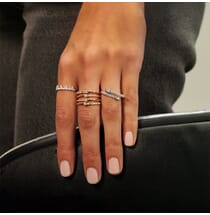 Wide Stacked Diamond Ring
