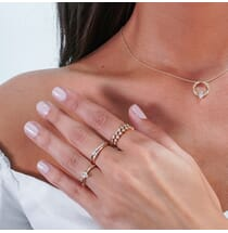 Studded Diamond Marquise Ring