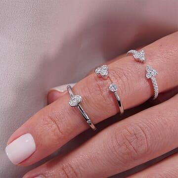 Cupids Bow Cuff Ring