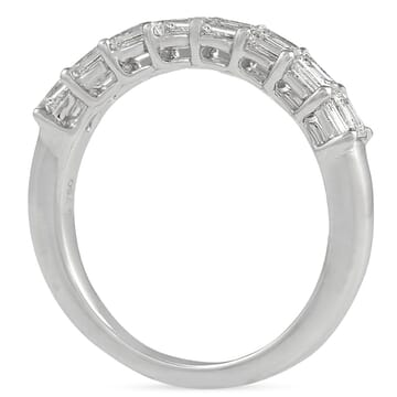 EAST WEST EMERALD CUT WEDDING BAND DIAMONDS