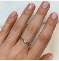 Bezel Diamond Chain Link Ring