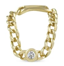 Bezel Diamond Chain Link Ring