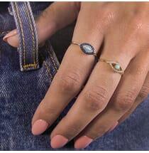 Evil Eye Sapphire Ring