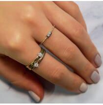 Bezel Set Emerald Ring