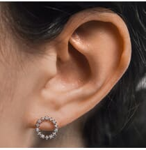 Compass Diamond Earrings