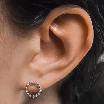 Compass Diamond Earrings