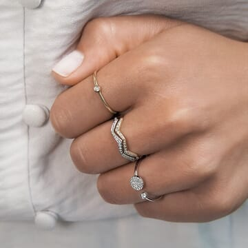 Zig-Zag Stackable Ring
