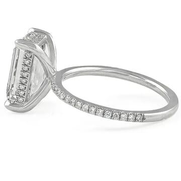 4.02 carat Emerald Cut Diamond Super Slim Engagement Ring