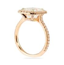 ROSE GOLD EMERALD CUT MOISSANITE ENGAGEMENT RING