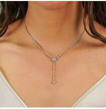 DIAMOND CLUSTER LARIAT NECKLACE