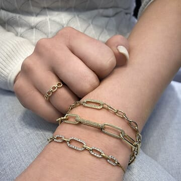 Open Oval Link Bracelet Yellow 14 karat Gold
