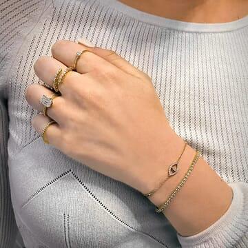 Emerald Evil Eye Bracelet yellow gold
