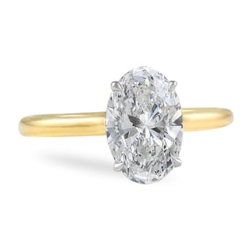 1.70 ct Oval Diamond Yellow Gold Solitaire Engagement Ring