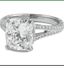 4 carat cushion cut diamond ring