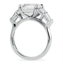 ASSCHER CUT 5 STONE RING WITH TRAPEZOID AND BULLET SIDES