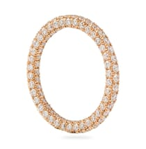 """FOUR ROW PAVE """"INSIDE-OUT"""" ETERNITY BAND"""