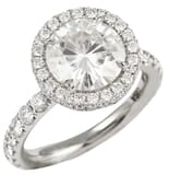 Round Moissanite Bold Halo Engagement Ring