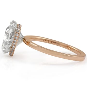 HEART SHAPE DIAMOND ROSE GOLD RING