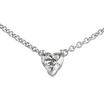 Heart Shape Diamond Solitaire Pendant