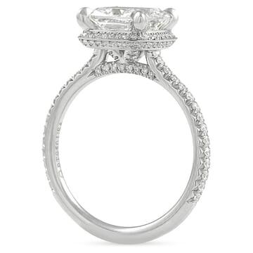 2.30 carat Cushion Cut Diamond Hidden Halo™ Engagement Ring