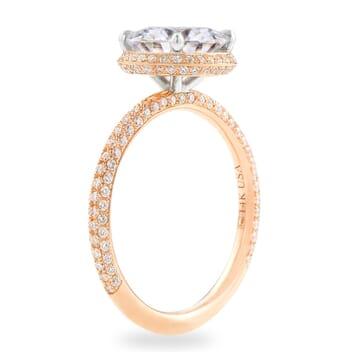 Round Moissanite Hidden Halo™ Engagement Ring