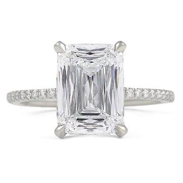 4.03 ct Hybrid Step Cut Engagement Ring