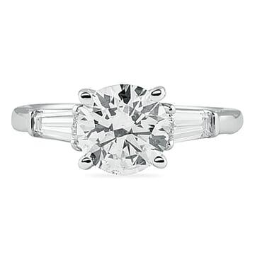 1.40 Carat Round Diamond White Gold Engagement Ring
